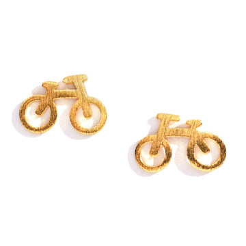 Bicycle Charm Earrings, Charm Earrings - Mulberry & Grand