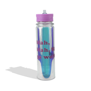 Blah Blah Blah, Go Workout Water Bottle, Drinkware - Mulberry & Grand