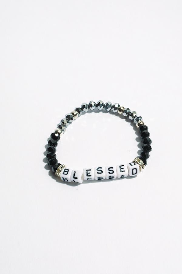 Blessed Inspirational Beaded Bracelet