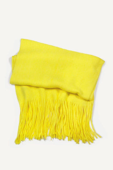 Brushed Color Long Fringe Scarf