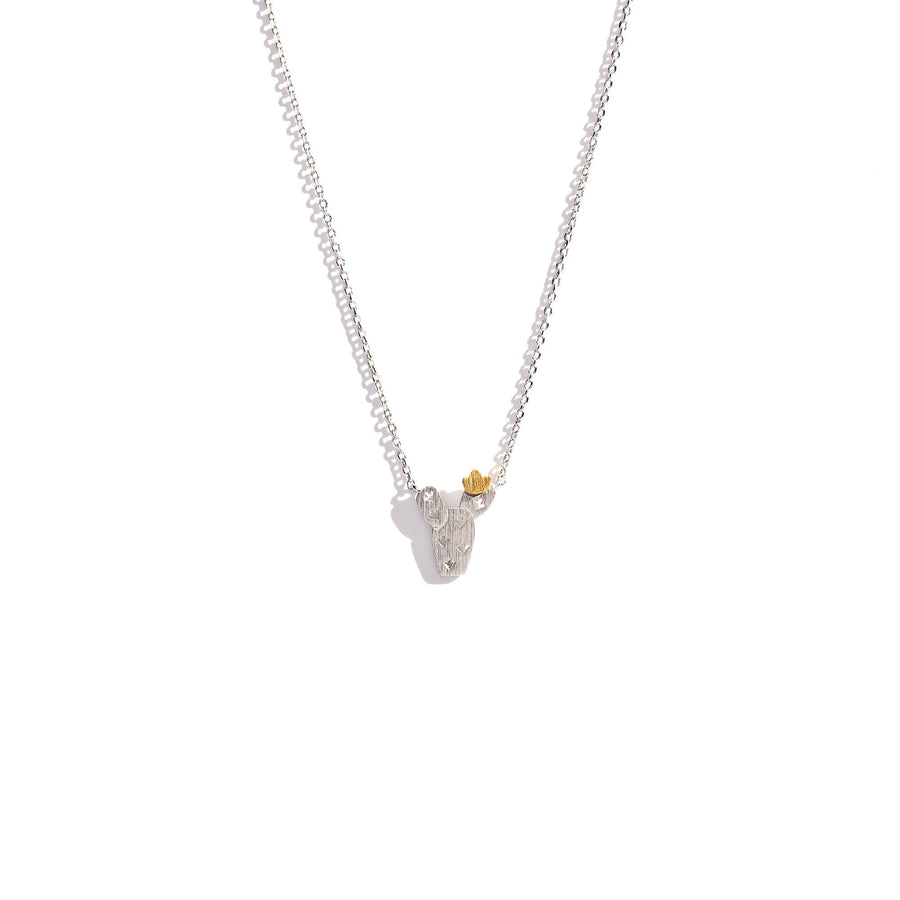 Cactus Blossom Charm Necklace, Charm Necklaces - Mulberry & Grand