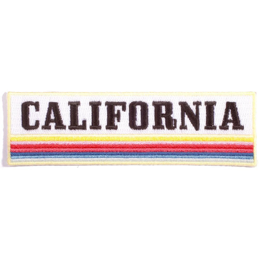 California Multi Stripe Embroidered Patch, Patch - Mulberry & Grand