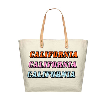 California Repeat Canvas Tote Bag, Canvas Tote Bag - Mulberry & Grand