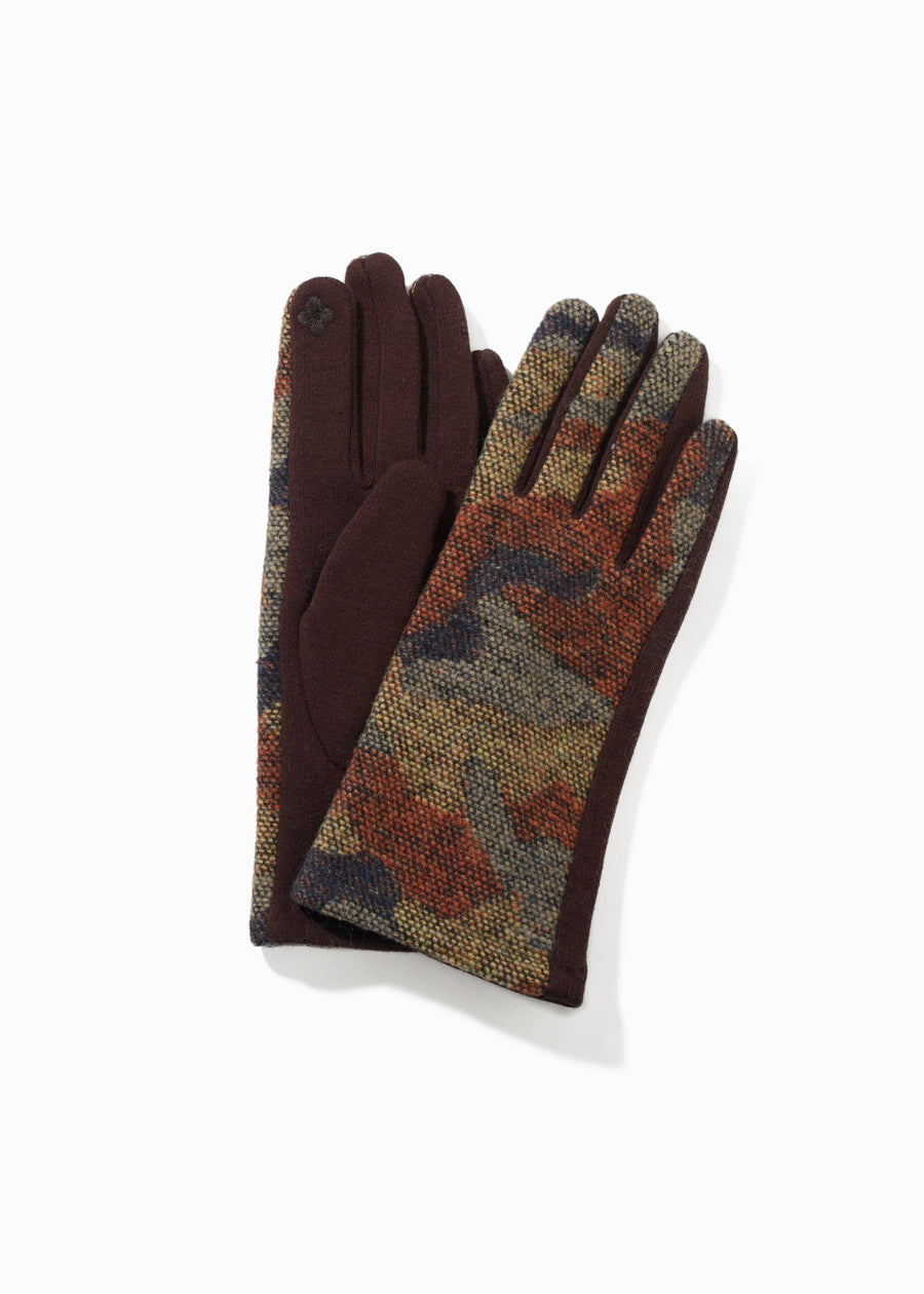 Camouflage Cotton Gloves Gloves Look by M Clay