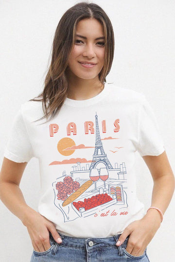 C'Est La Vie Graphic Tshirt t-shirt Mulberry & Grand S