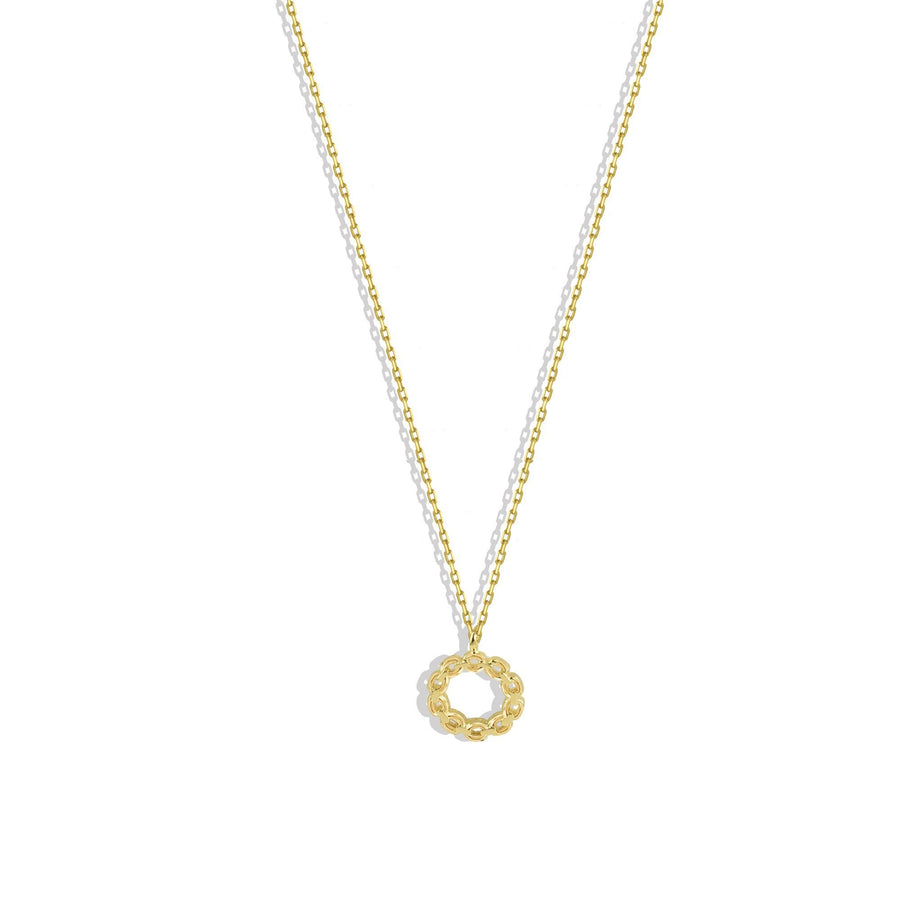 Chain Link Circle Charm Necklace, Charm Necklaces - Mulberry & Grand