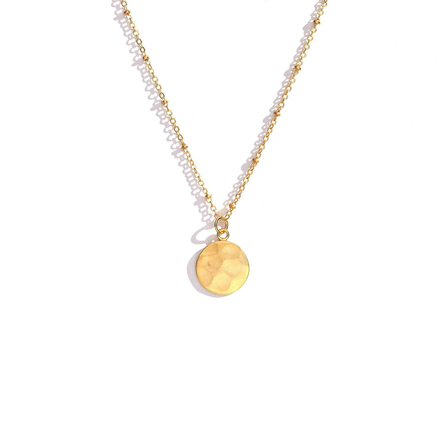 Circle Gold Necklace, Necklace - Mulberry & Grand