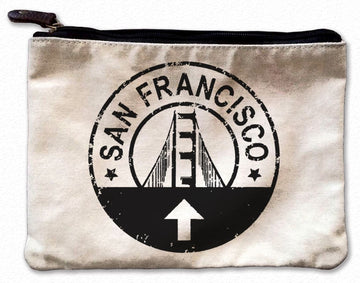 Circle Sign SF Canvas Pouch, Inspirational Canvas Pouch - Mulberry & Grand