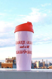 Classy, Sassy, and a Bit Smart-Assy Travel Mug, Drinkware - Mulberry & Grand