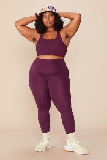 Compressive High-Rise Legging Plum Clothing Girlfriend Collective XS