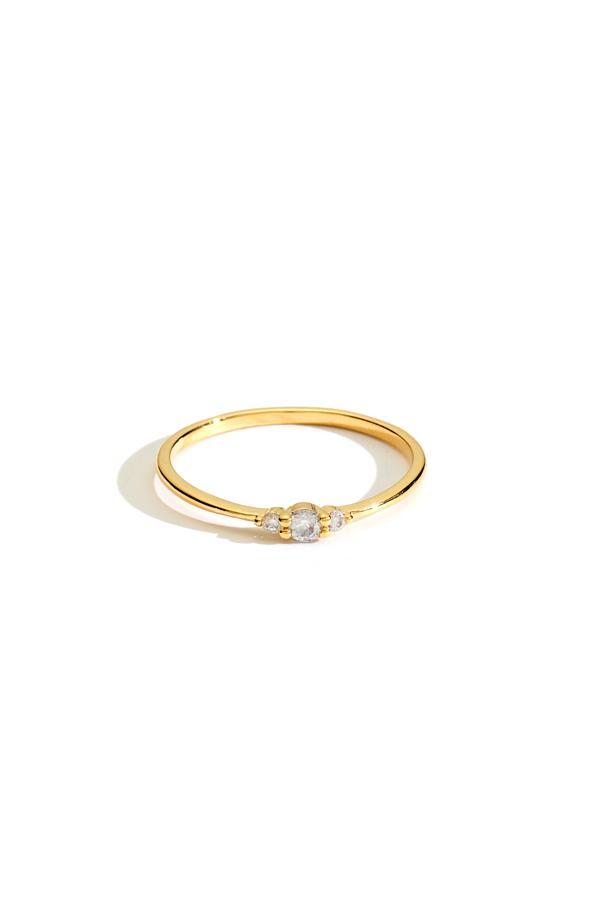 Crystal Trio Stacking Ring