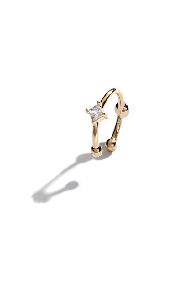 Diamond Stud Ear Cuff