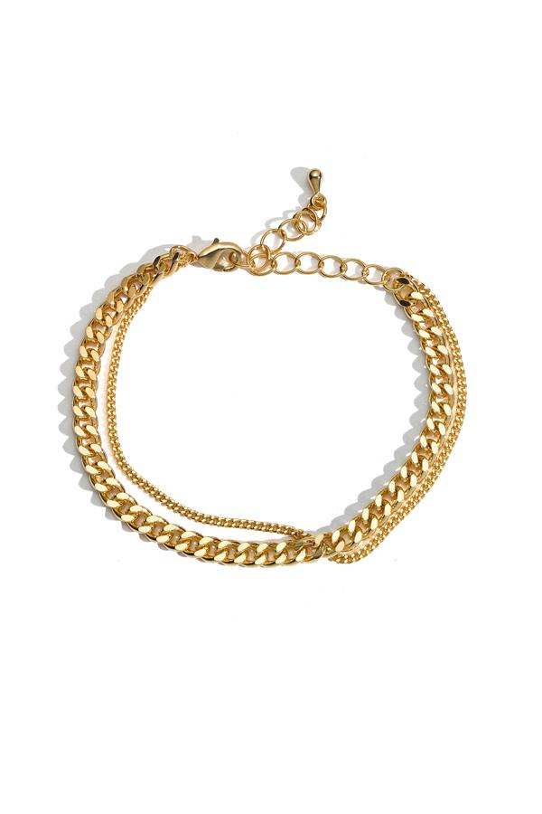 Double Mini Chain Link Bracelet