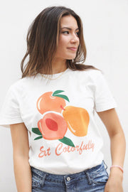 Eat Colorfully Graphic Tshirt