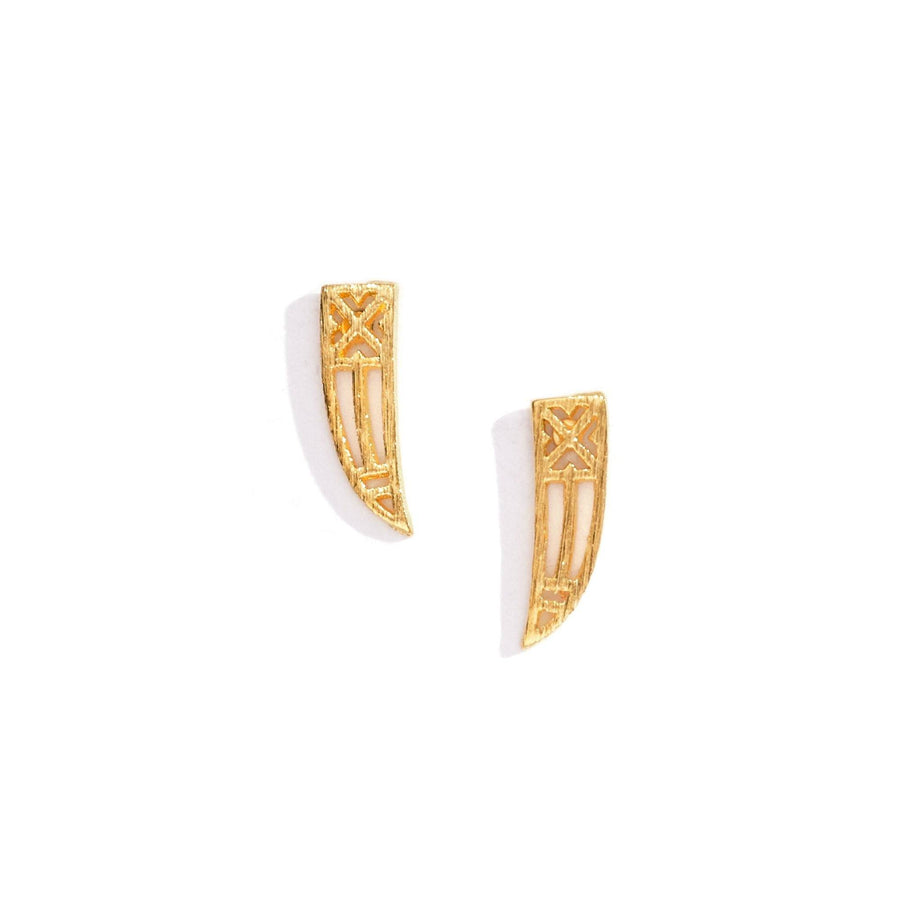 Embellished Horn Charm Earrings, Charm Earrings - Mulberry & Grand