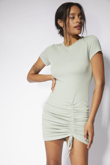 Emery Mini Dress Clothing Mink Pink