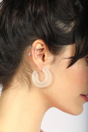 Emilia Thick Hoop Earrings by Mulberry and Grand
