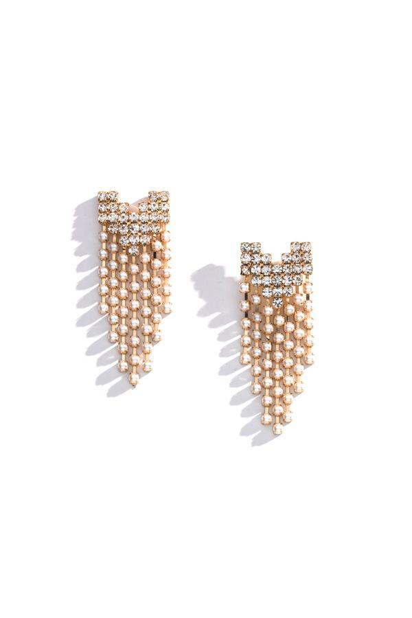 Esme Pearl Dangle Earrings