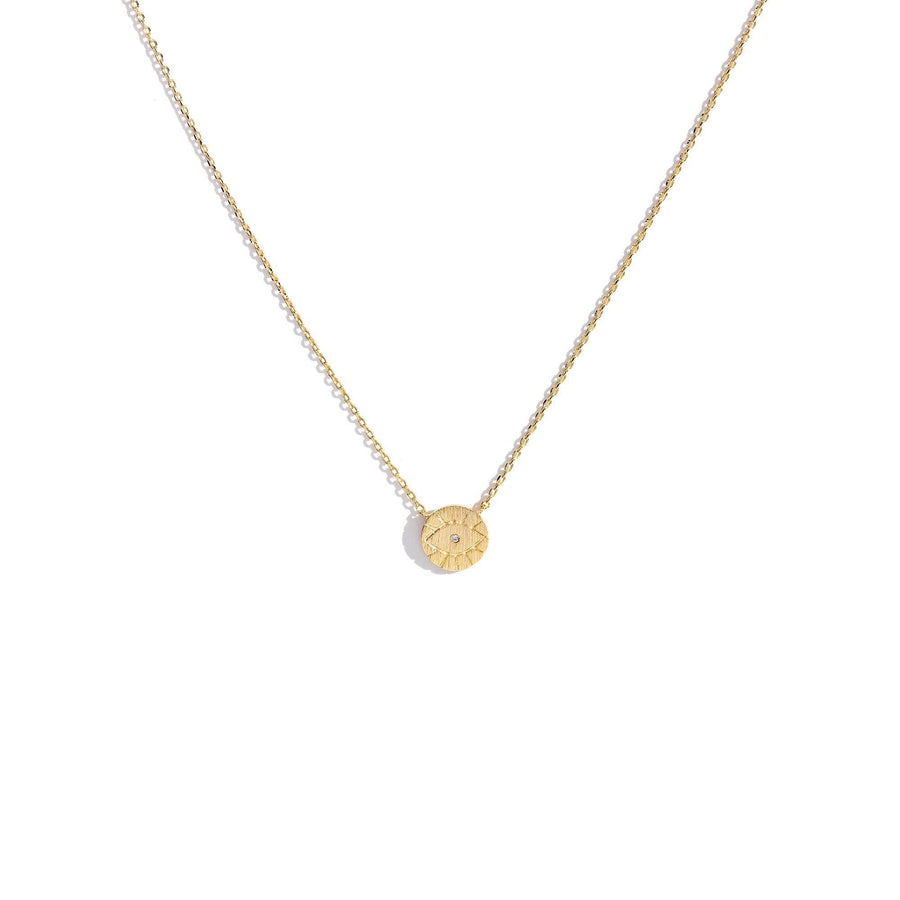 Evil Eye Medallion Charm Necklace, Charm Necklaces - Mulberry & Grand