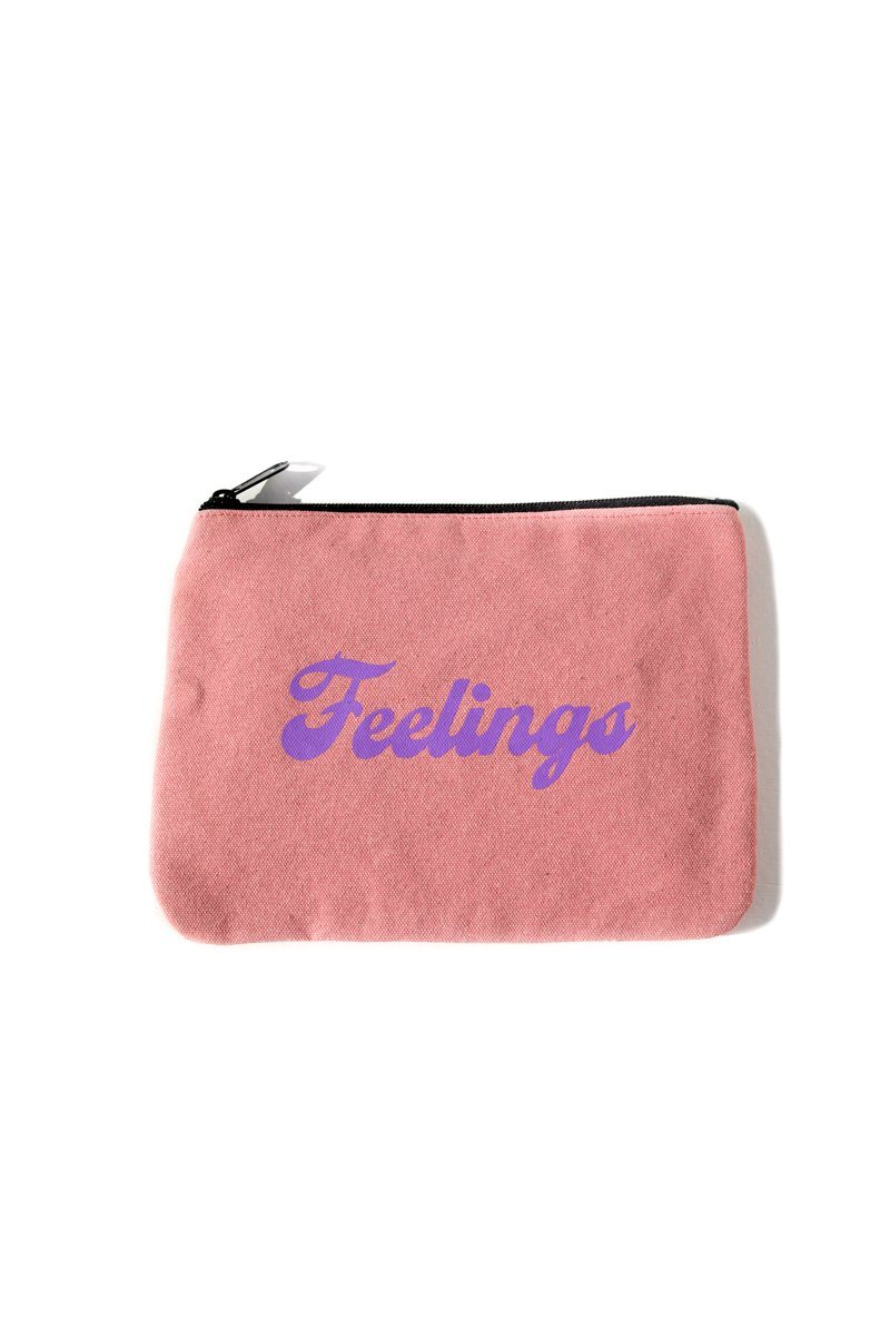 Feelings Inspirational Canvas Pouch Mulberry & Grand