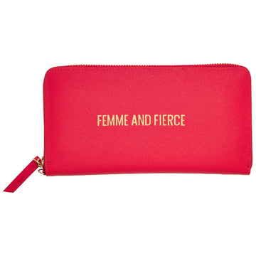 Femme & Fierce Zip Wallet, Zip Wallet - Mulberry & Grand