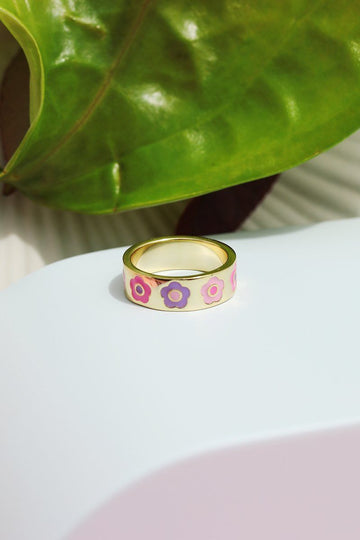 Flower Stacking Ring Rings Mulberry & Grand 5