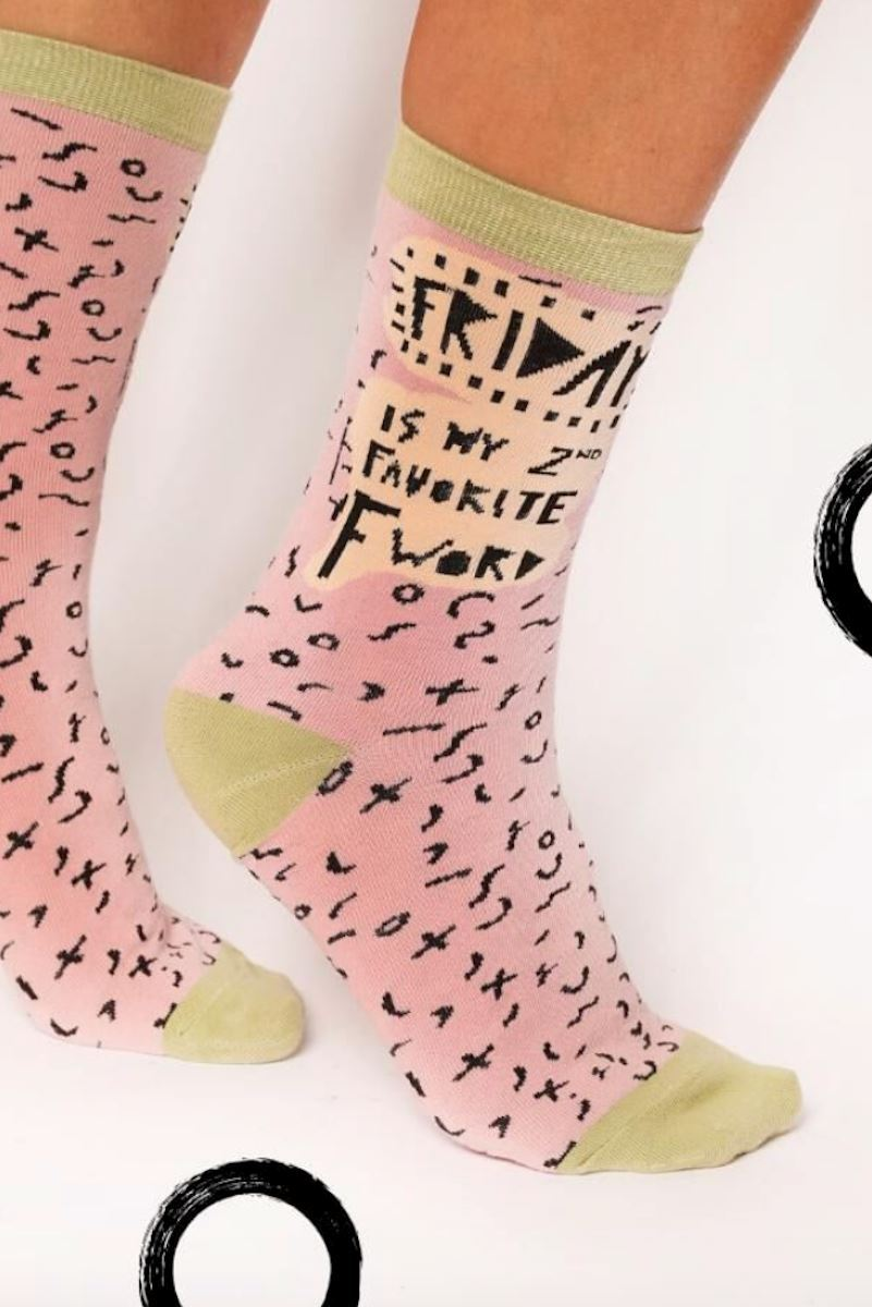 Friday is my 2nd Favorite F word socks Socks Mulberry & Grand