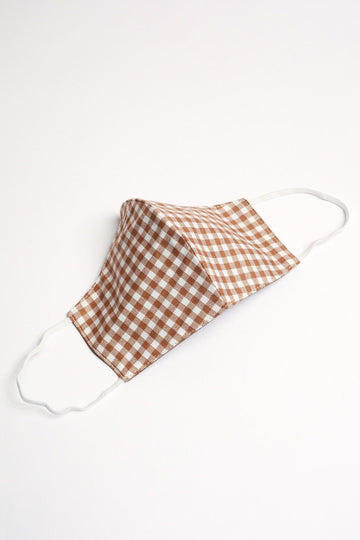 Gingham Cotton Face Mask