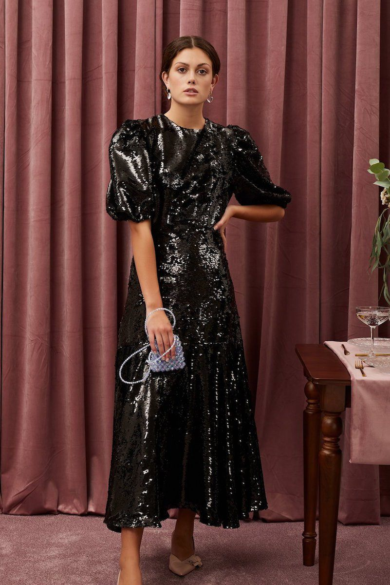 Guest List Sequin Midi Dress Clothing Sister Jane XS