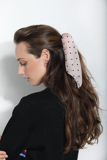 Heart Polka Dots Scarf Scrunchie Hair Accessory Mulberry & Grand