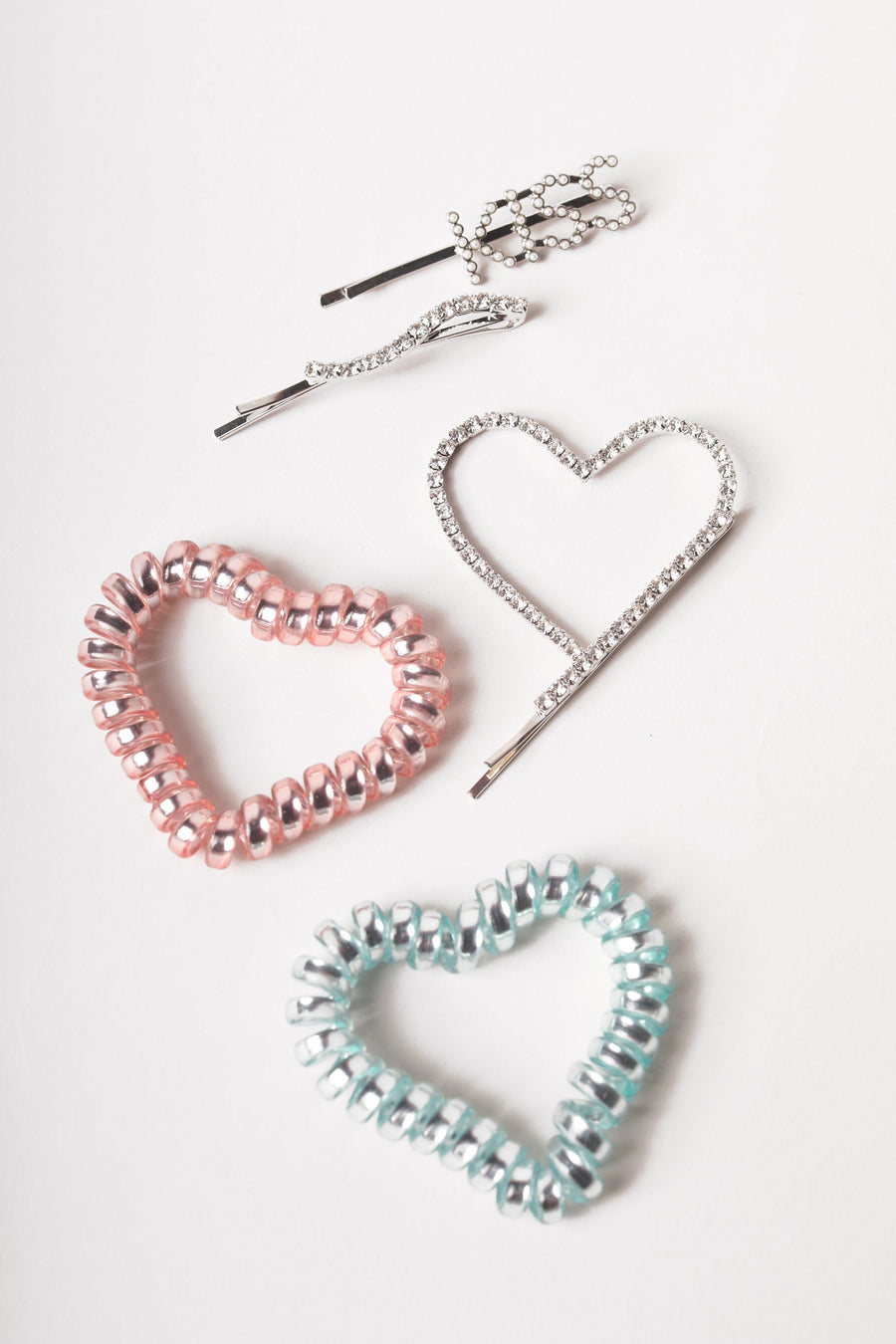 Hearts and Kisses Hair Accessory Set