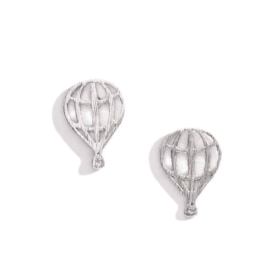 Hot Air Balloon Charm Earrings, Charm Earrings - Mulberry & Grand