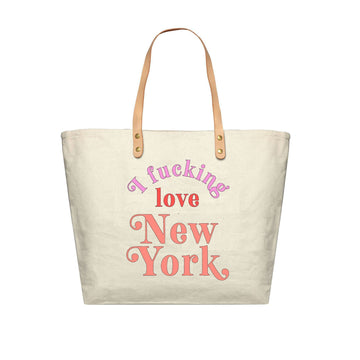 I Fucking Love New York Colorful Canvas Tote Bag, Canvas Tote Bag - Mulberry & Grand