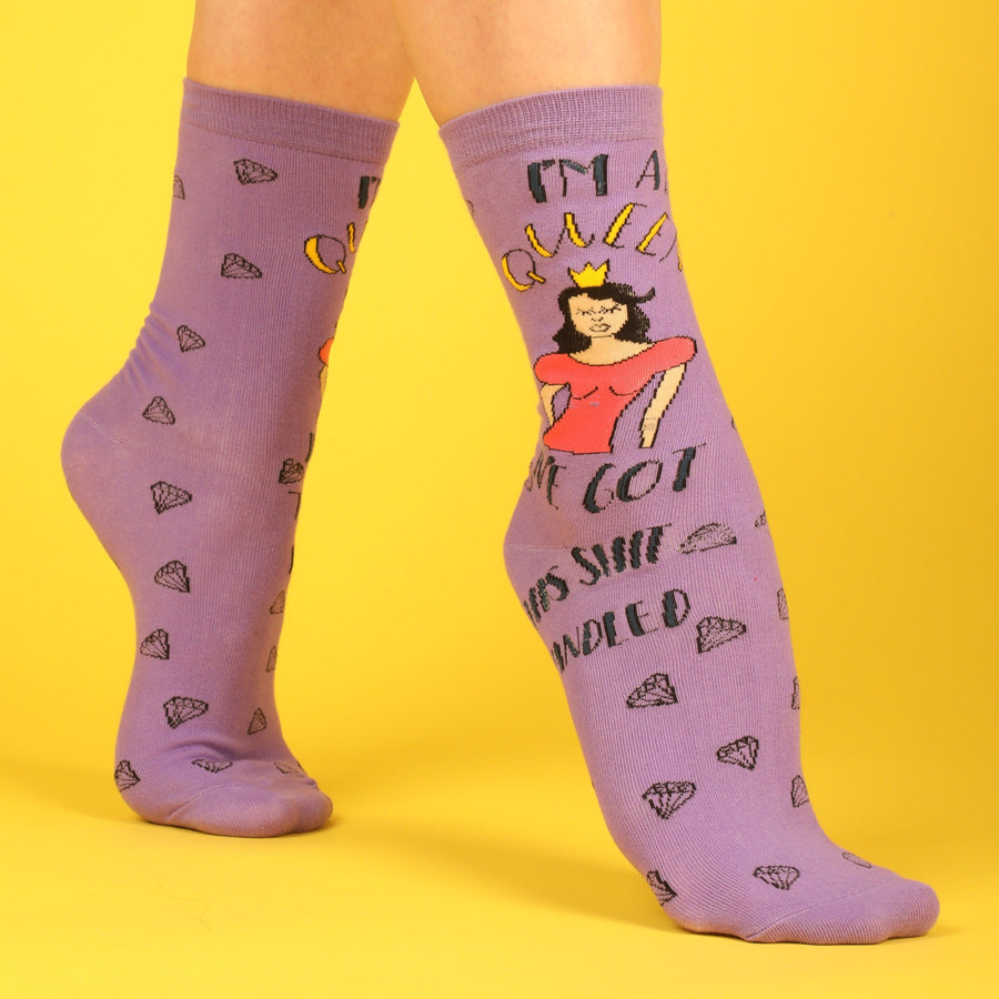 I'm A Queen; I've Got This Sh*t Handled Socks