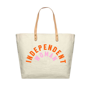 Independent Woman Canvas Tote Bag, Canvas Tote Bag - Mulberry & Grand