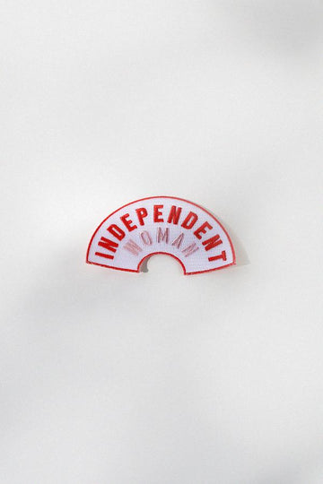 Independent Woman Embroidered Patch