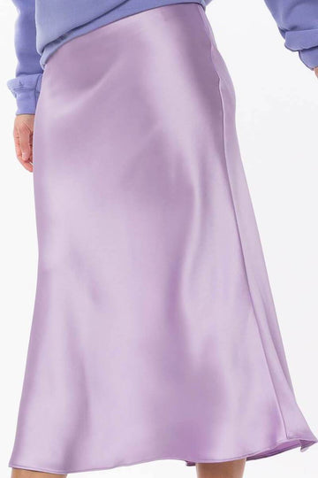 Iris Satin Midi Skirt Clothing Cotton Candy LA S