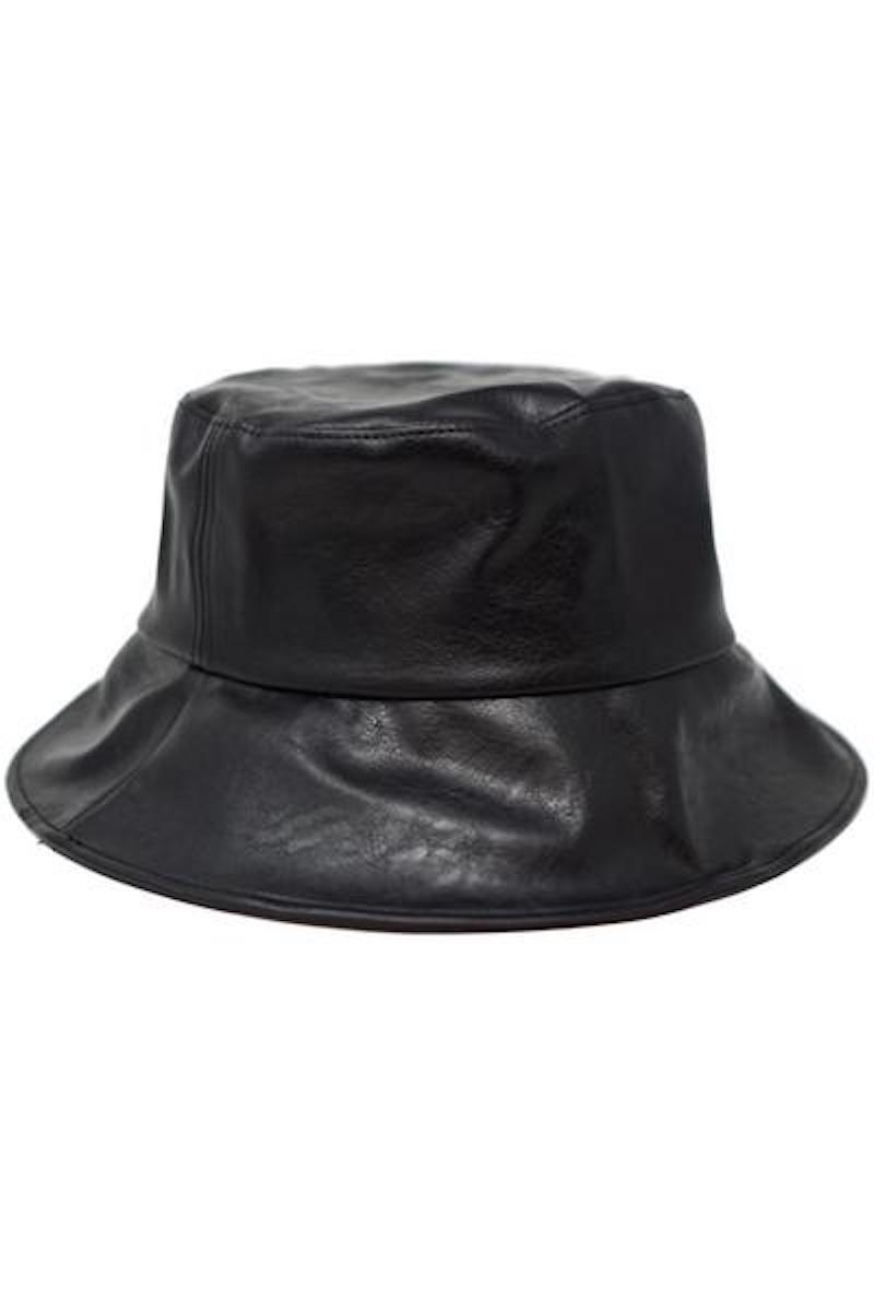 Leather Bucket Hat Hats Olive & Pique