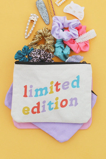 Limited Edition Canvas Pouch Inspirational Canvas Pouch Mulberry & Grand