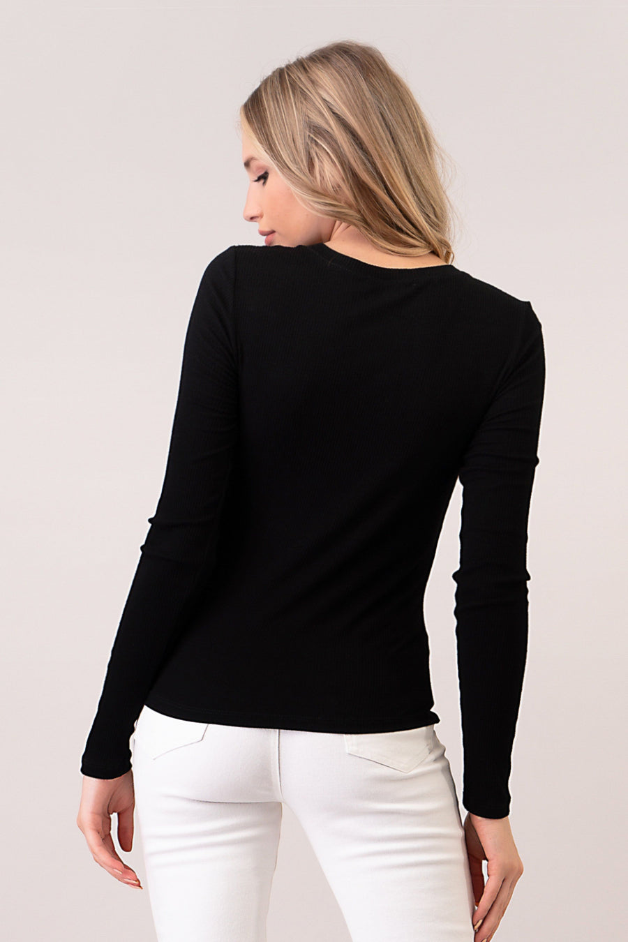 Long Sleeve Rib Top