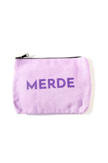 Merde Inspirational Canvas Pouch Mulberry & Grand