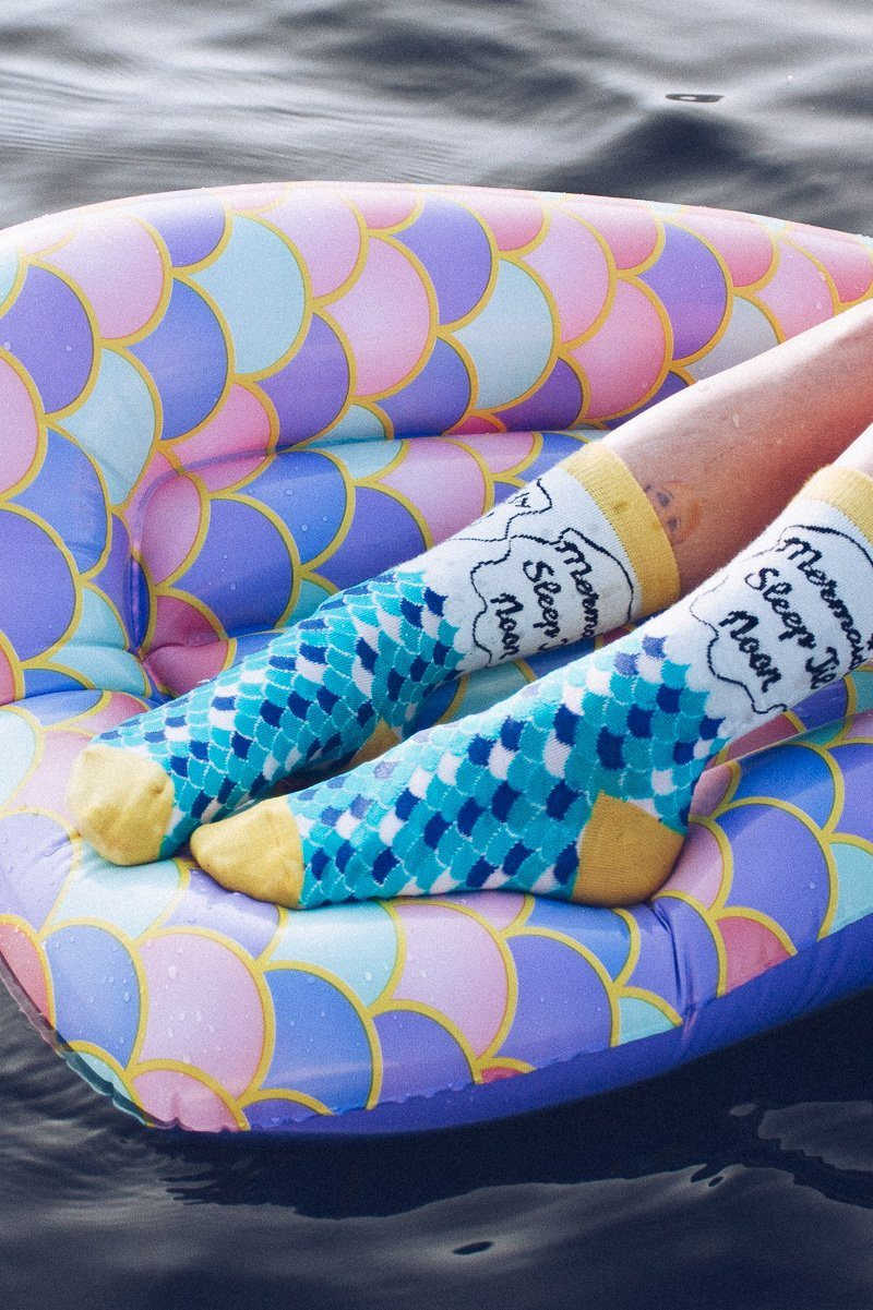 Mermaids Sleep Till Noon Socks Socks Mulberry & Grand