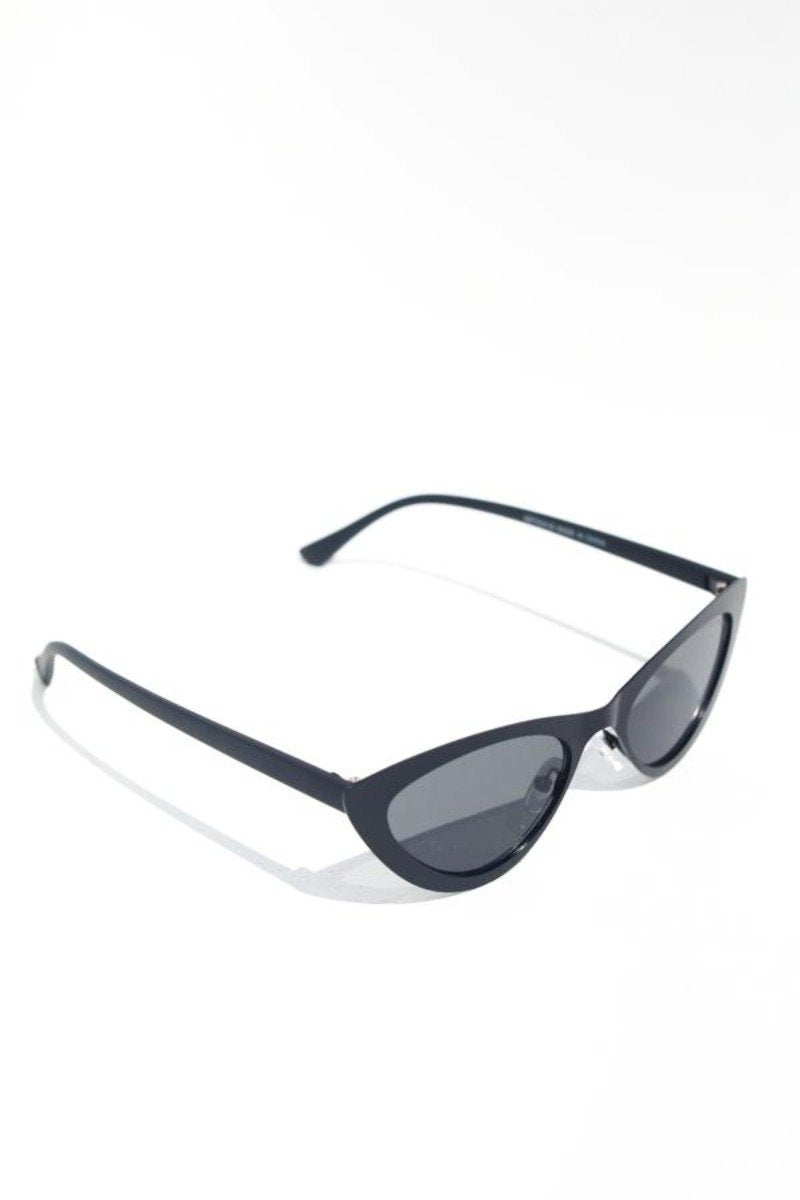 Metallic Frame Cateye Sunglasses