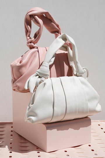 Mona Top Handle Bag Bags Mulberry & Grand White
