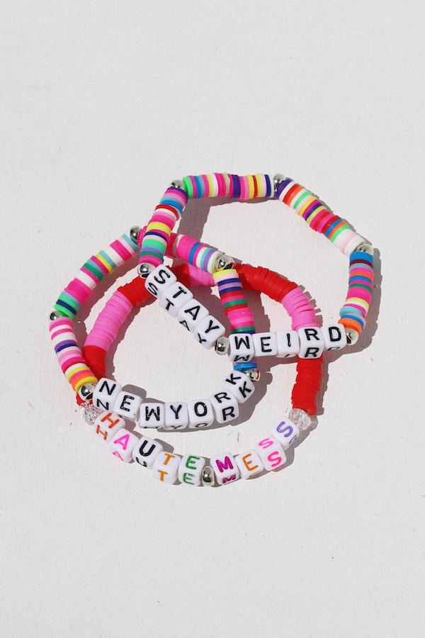 New York Colorful Inspirational Beaded Bracelet