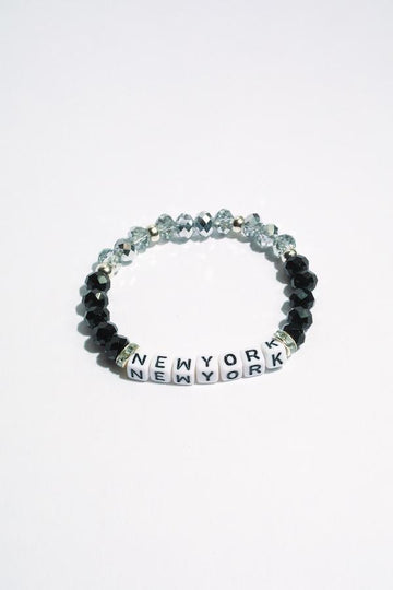 New York Inspirational Beaded Bracelet