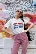 New York Repeat Cropped Tshirt, tshirt - Mulberry and Grand