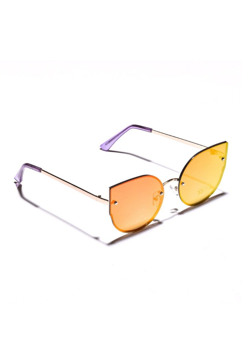 Oversize Rimless Cat Eye Sunglasses