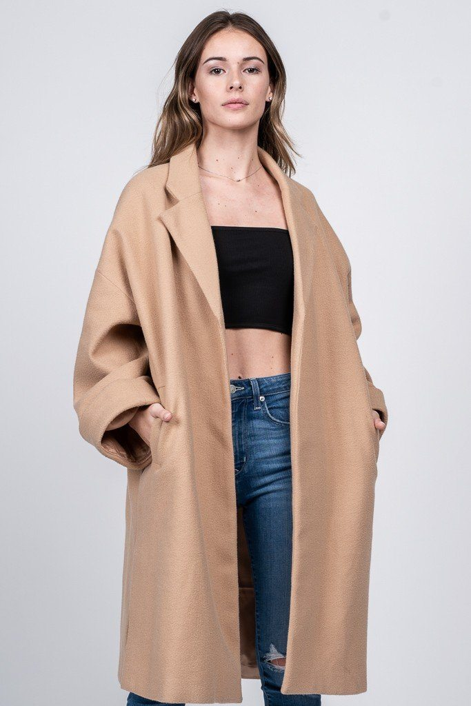 Oversized Jacket Clothing Fore Collection Camel S