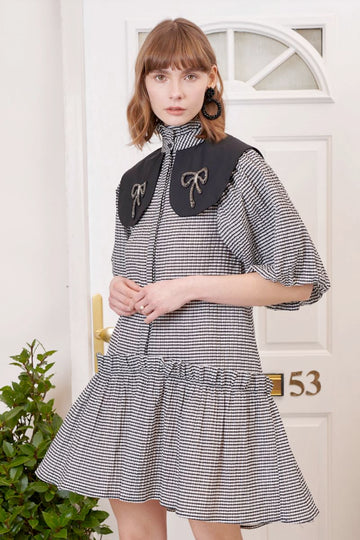 Regards Gingham Collared Mini Dress Clothing Sister Jane XS